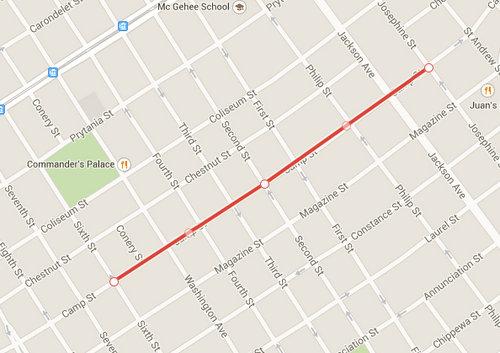 (illustration by UptownMessenger.com via Google Maps)