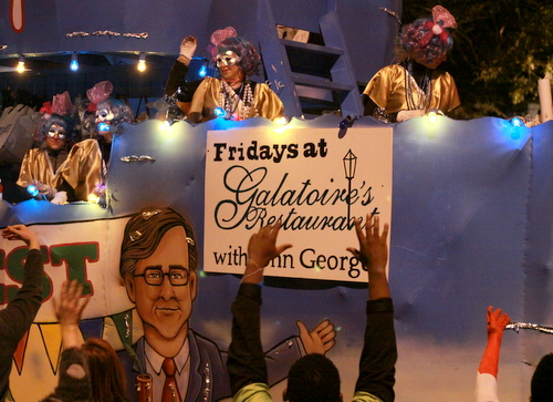 "The Muses ""Playing Hooky"" float poked fun at popular New Orleans weekday pasttimes. (Robert Morris, UptownMessenger.com)"