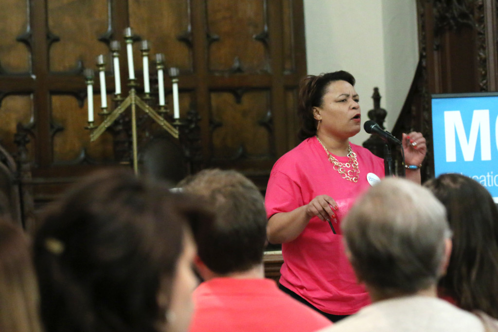 Councilwoman LaToya Cantrell spoke passionately about the need for Planned Parenthood. (Zach Brien, UptownMessenger.com)