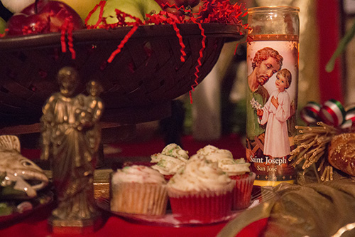 Cupcakes were brought as offerings to St. Joseph. (Zach Brien, UptownMessenger.com)