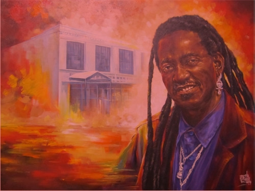 Painting by Adewale Adenle (via Ashe Cultural Arts Center)