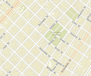 A map of the Carrollton area, via NOPD. The robberies from this morning have not yet appeared on the crime maps.