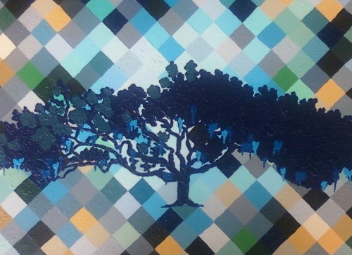 """Blue Oak"" by Adrienne McFaul. (via adriennemcfaul.com)"