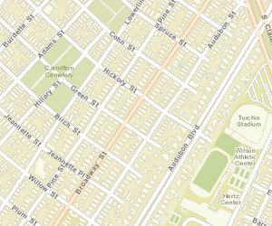 The 1700 block of Broadway is between Hickory and Green. (map via NOPD)