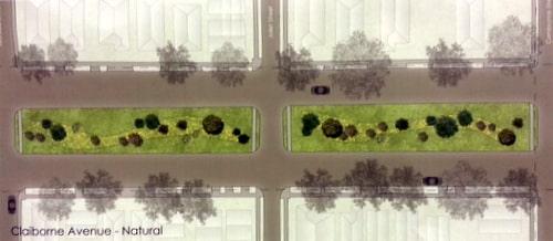 The plan for South Claiborne Avenue.