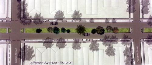 The plan for Jefferson Avenue.