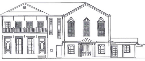 A rendering of the renovated home by draftsman Stephen Perkins. (via City of New Orleans)