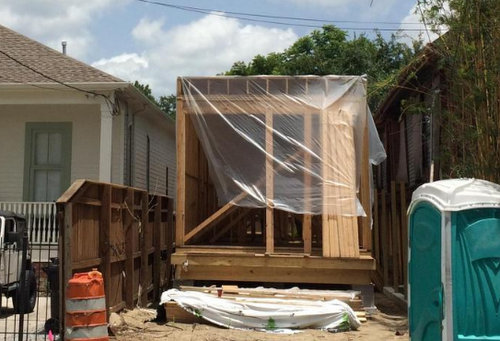 The beginnings of the house at 4621 Chestnut Street (via City of New Orleans)