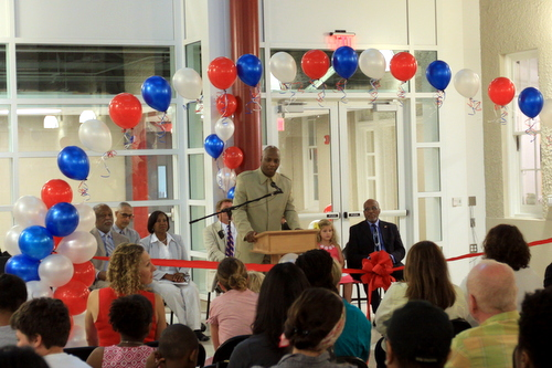 OPSB Superintendent Henderson Lewis speaks during the ceremony. (Robert Morris, UptownMessenger.com)