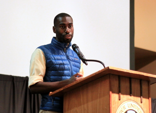 Black Lives Matter Deray McKesson speaks at Rising Tide X. (Robert Morris, UptownMessenger.com)