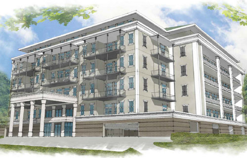 A rendering of the condo building proposed at 225 State Street. (rendering by Harry Baker Smith architects, via nola.gov)