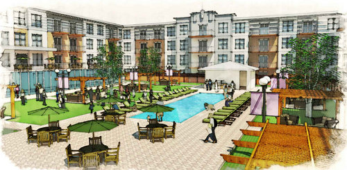 A rendering of the interior of the Parkway Apartments (image by Harry Baker Smith Architects via nola.gov)