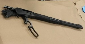 The gun recovered at the suspect's home. (via NOPD)