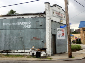 The Innovators Barber Shop on South Claiborne Avenue was robbed at gunpoint in late October. (Robert Morris, UptownMessenger.com)