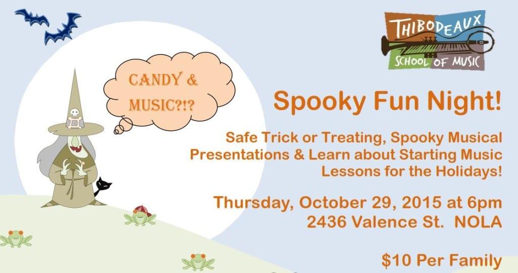 Thibodeaux School of Music spooky fun night