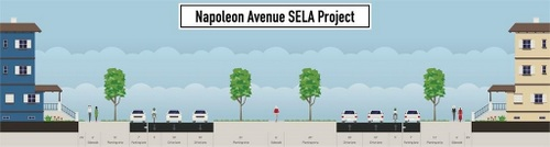 The newly announced design for Napoleon Avenue (via City of New Orleans)