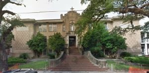 Former Our Lady of Good Counsel School has been proposed to be renovated into a 22-unit apartment building. (photo via City Planning Commission)