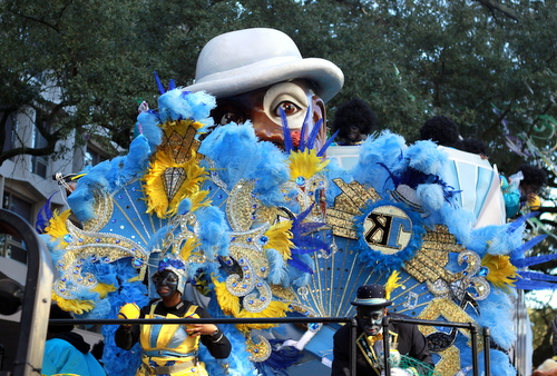 "The ""Big Shot"" float in the Krewe of Zulu rolls on St. Charles Avenue. (Robert Morris, UptownMessenger.com)"