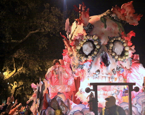 "The ""Full Fathom Five"" float in the Krewe of Hermes rolls on Napoleon Avenue. (Robert Morris, UptownMessenger.com)"
