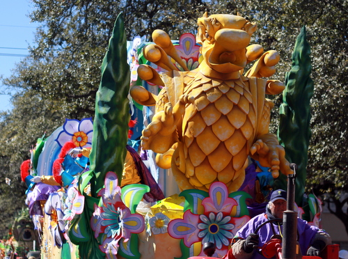 "The ""Gardens of Alhambra"" float in the Krewe of Rex rolls on St. Charles Avenue. (Robert Morris, UptownMessenger.com)"
