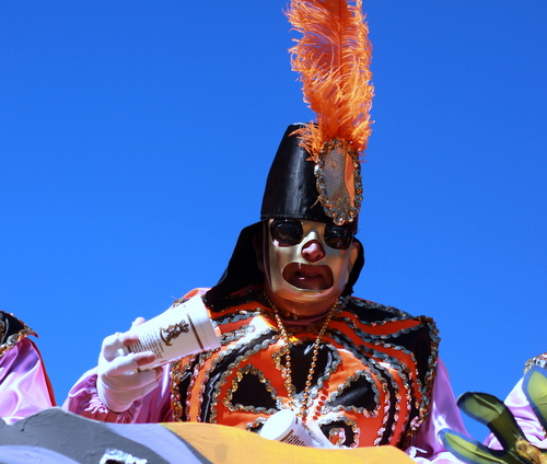 The Krewe of Rex rolls on St. Charles Avenue. (Robert Morris, UptownMessenger.com)