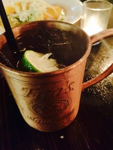 NOLA Mule made with Crescent Vodka, Gosling's Ginger Beer, and Lime (Kristine Froeba)