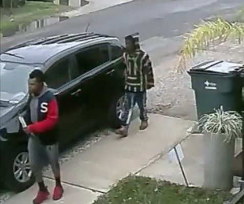 A still image from the video of the March 24 burglary of a vehicle in the 3900 block of Annunciation Street. (via NOPD)