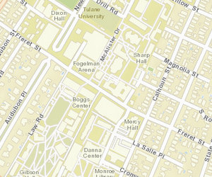 The intersection of Freret and Calhoun streets is at the edge of the Loyola campus and just steps from Tulane University. (map via NOPD)