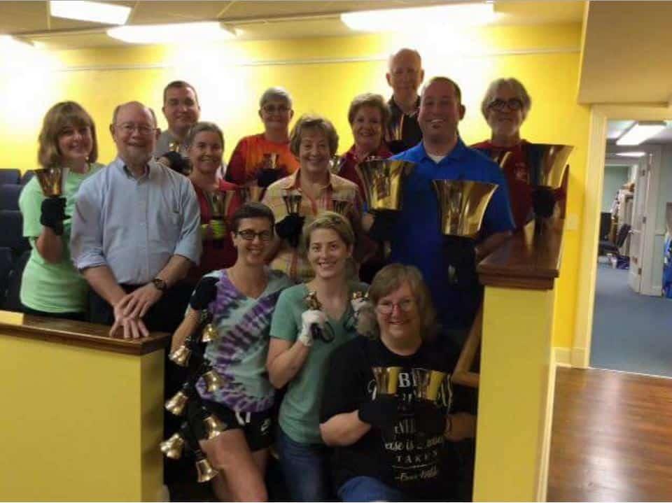 The Bayou Bell Choir (via https://m.facebook.com/St-Andrews-Handbell-Choir-901526643306513/)