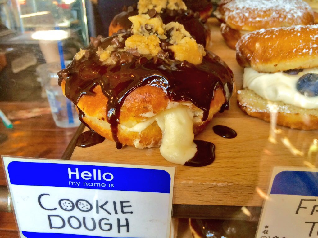 Cookie Dough Chocolate Glaze Donut (Kristine Froeba)