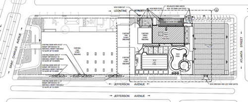 The site plan for proposed expansion of the Jewish Community Center. (via City of New Orleans)
