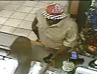 Surveillance video shows the man who robbed the Subway on South Claiborne, police say. (image via NOPD)
