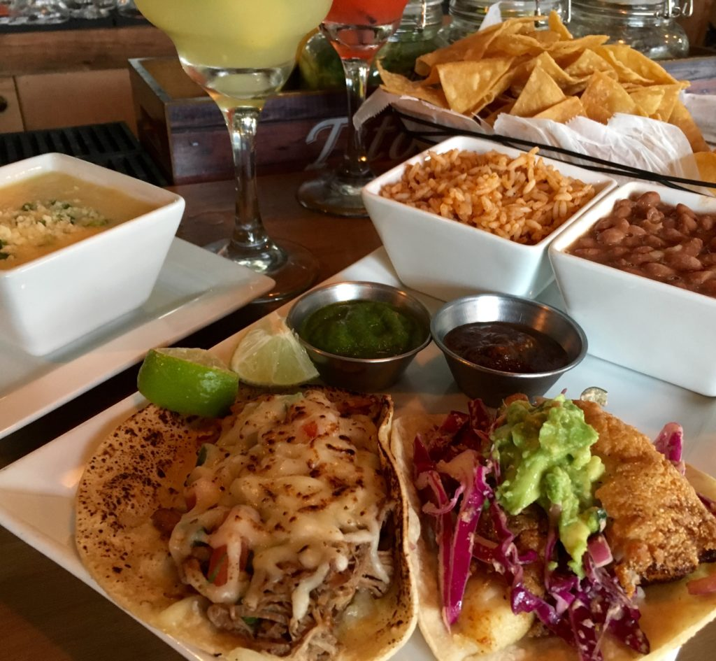 El Fuego Brisket and Flame Torched Jack and Catfish and Chipotle tacos (Kristine Froeba)