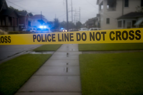 On Thursday there was a fatal shooting in the 2200 block of Peniston street uptown. (Zach Brien, UptownMessenger.com)