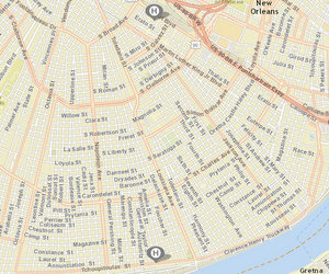 Homicides reported on Saturday on Clio Street and Sunday on Tchoupitoulas. Monday's fatal shooting on Josephine has not been included on the crime maps. (via NOPD)