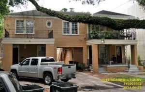 The house at 2014-2018 South Carrollton will be demolished to make way for the play yard. (via City of New Orleans)