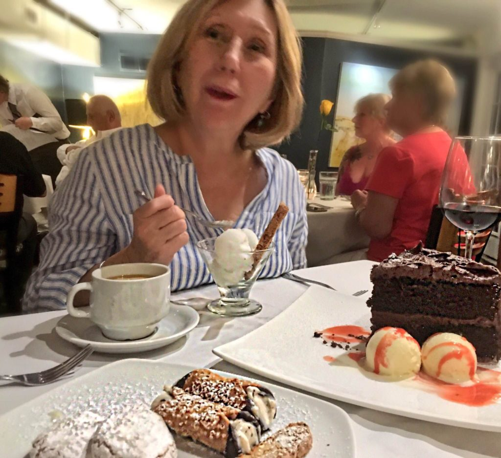New Orleans local Dianne Hunter overwhelmed with dessert selection (Kristine Froeba)
