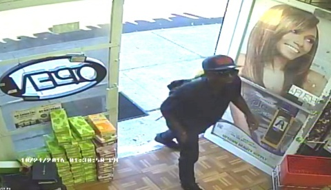 The suspect in the robbery of Uptown Beauty on Friday, Oct. 21. (via NOPD)
