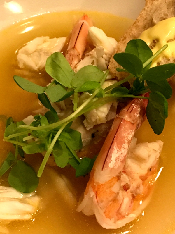Cajun Bouillabaisse with Jumbo Lump Crab and Gulf White Shrimp (Kristine Froeba)