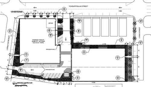 The Site Plan For The Self Storage Project. (via City Of New Orleans)