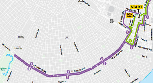 Map Of St Charles Ave New Orleans Rock 'n' Roll Marathon to take over St. Charles Avenue on Sunday