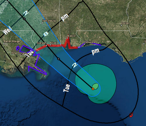 Tropical Storm Gordon may strengthening into a hurricane by 7 p.m. tonight