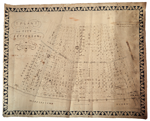 "William H. Williams (1817-1886), ""Plan of the City of Jefferson"""