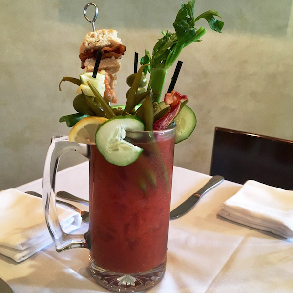 The Deluxe Bloody Mary at New Orleans' Apolline Restaurant