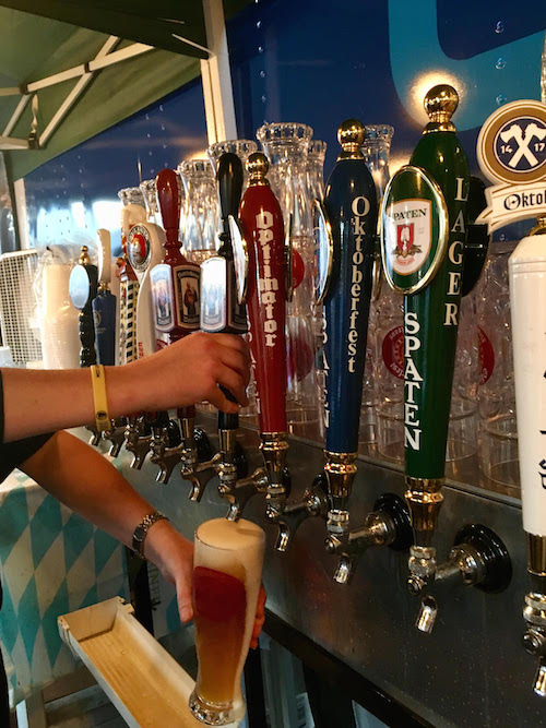 German beers on tap at Deutsches Haus' Oktoberfest