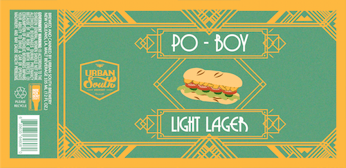 Urban South Brewery's Po-Body Lager