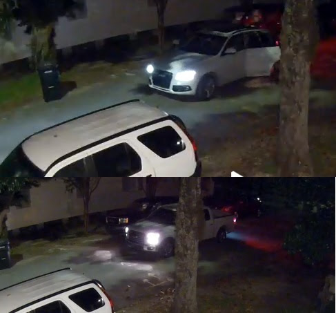 Surveillance video shows a car burglary on Calhoun Street early on Nov. 2 (via NOPD)
