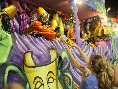 The Krewe of Oshun performs the opening anthem of Mardi Gras