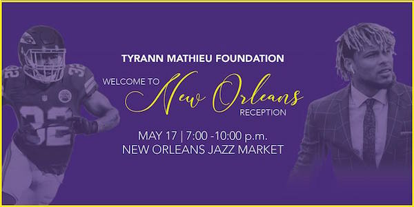 Tyrann Mathieu Foundation welcome reception