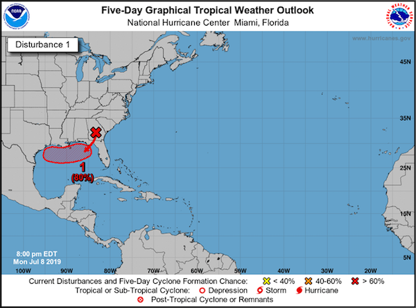 Confidence increasing for tropical development impacting Louisiana